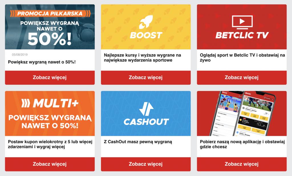 betclic polska oferta zakładów sportowych